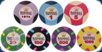 National Poker Series - Sample Set (7 Chips)
