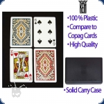 KEM Paisley Bridge Size - Set of two decks (Regular Index)