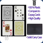 KEM Arrow Poker Size Schwarz/Gold - 2 Deck Set (Jumbo Index)