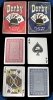 Derby Poker Size Karten - Single Deck Blau (Regular Index)