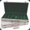 Aluminium Case (for 300 Chips) - alu/green