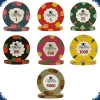 Paulson Tophat & Cane Pokerchips - Sample Set (7 Chips)