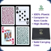Copag Poker Size - 2 Decks Green/Burgundy (Jumbo Index)